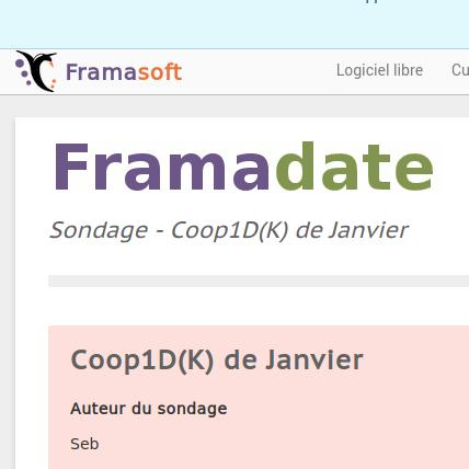 Coop1D(K) de Janvier – on confirme la date ?